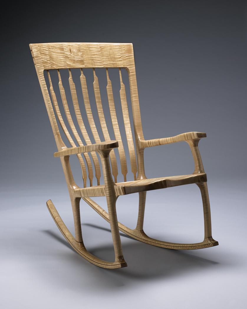 Custom Maple Rocker from Kit Clark Furniture