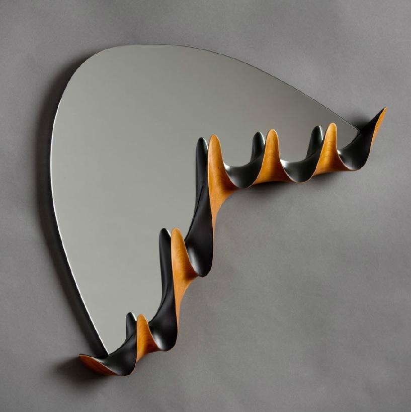 mirror with coatrack