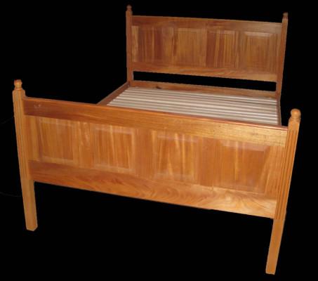 mahogany raised panel bed