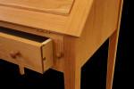 cherry slant front desk details