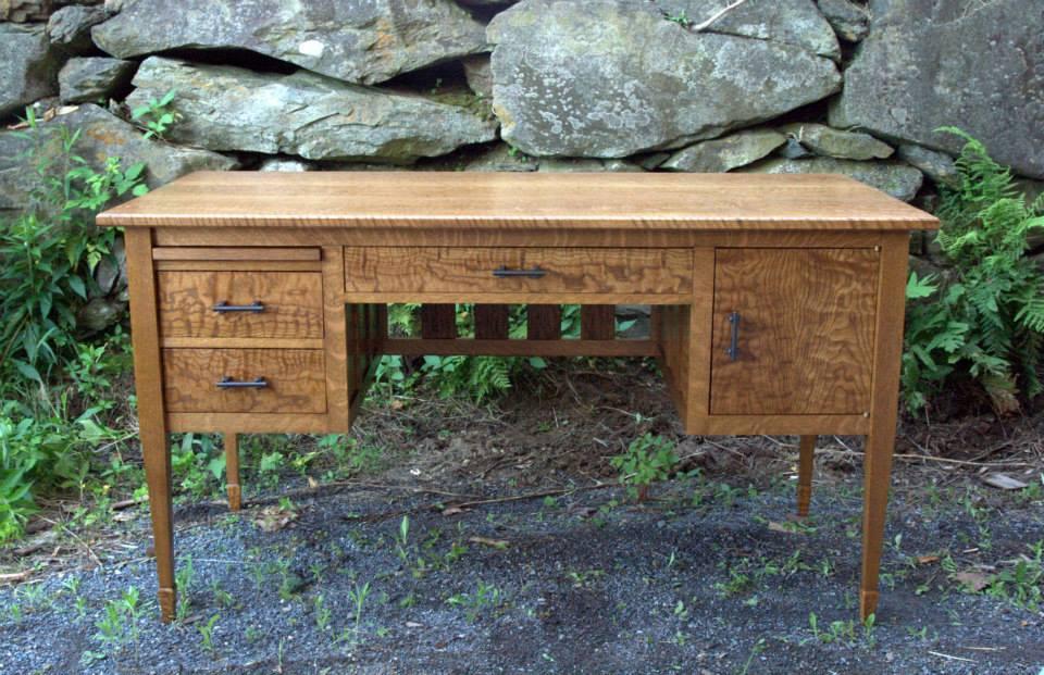 Oak Writing Desk from Steve Robinson, Brattleboro VT