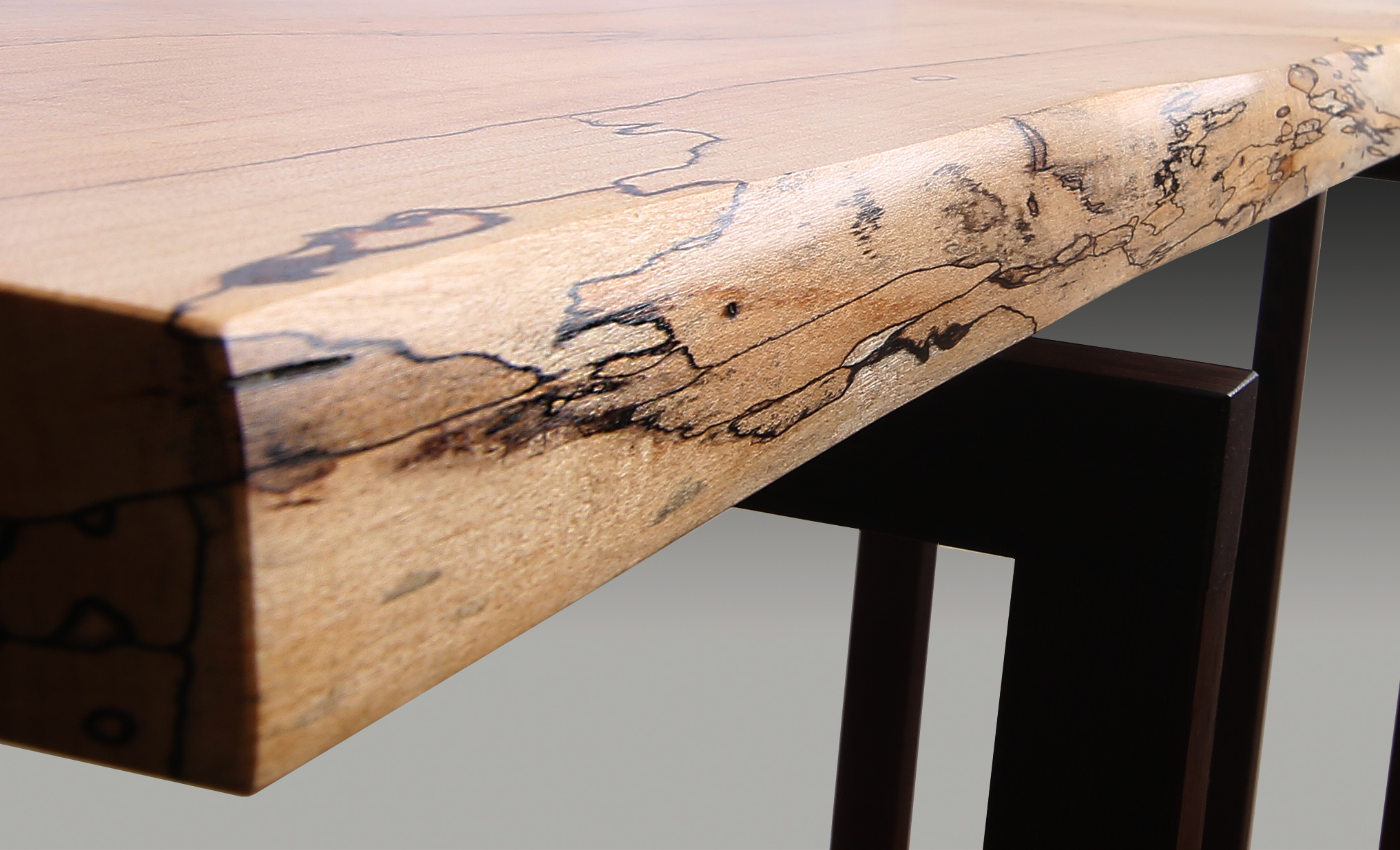 Spalted Maple Wenge Hall Table Guild Of Vermont