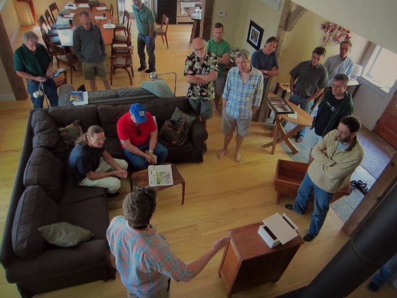 Guild of Vermont  Furniture Makes Meet at Hugh Belton's in Woodstock