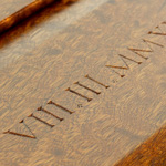 Carved Roman Numerals