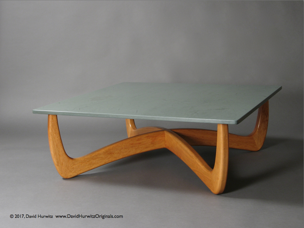 Outstanding Modern Coffee Table With Cherry Base And Stone Table Top Ncnpc Chair Design For Home Ncnpcorg