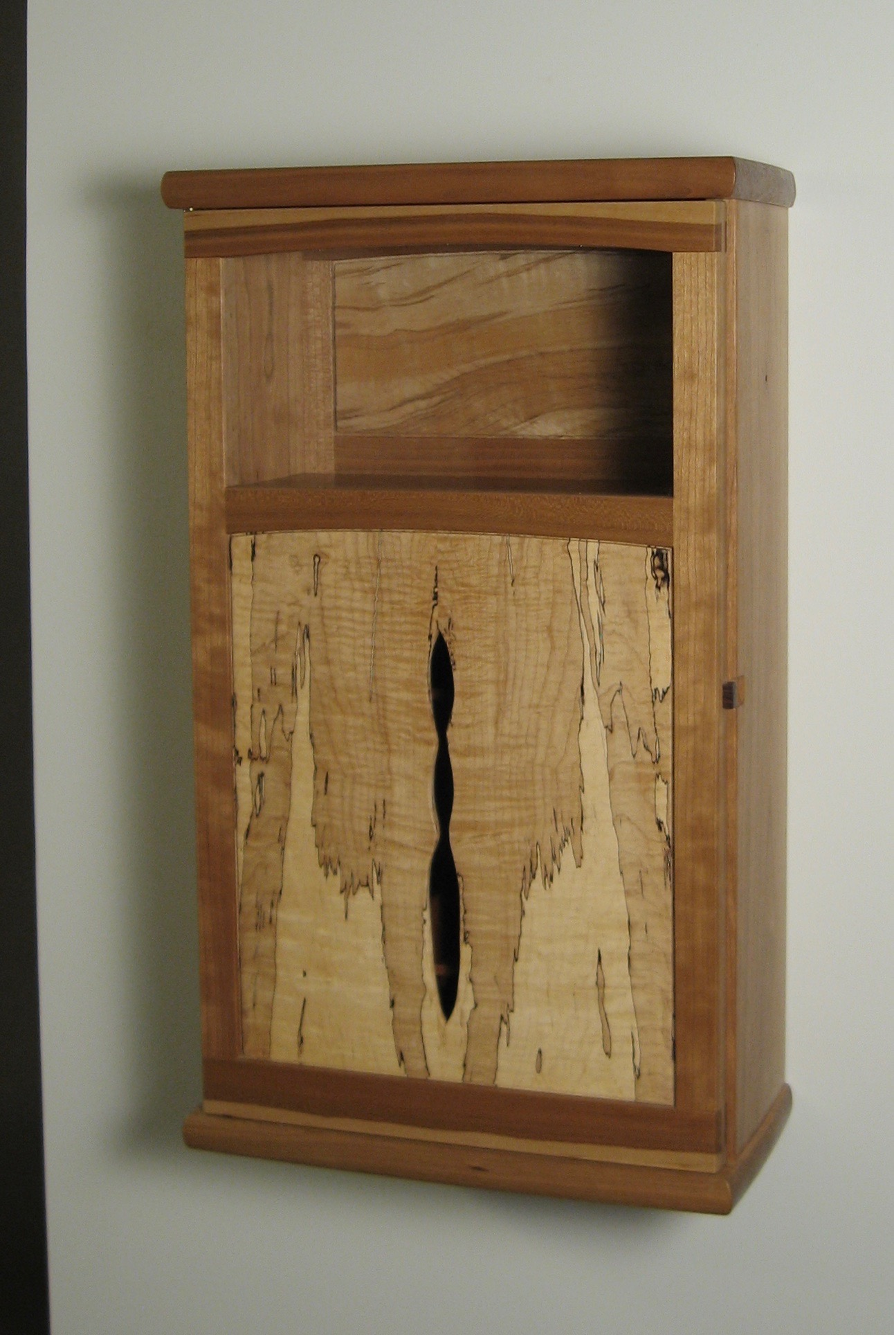 Spalted Maple U0026 Cherry Wall Hanging Cabinet