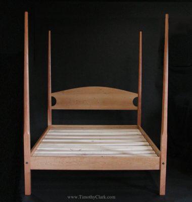Pencil Post Bed, bed, custom, shaker, timothyclark.com