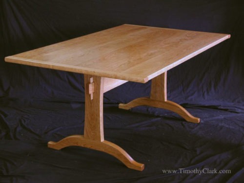 trestle table, cherry, shaker, Vermont, dining