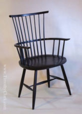 windsor chair, arm chair, milk paint, hand made, waltham chair