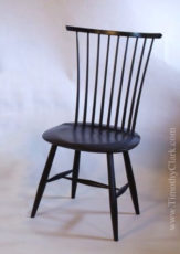 Windsor side chair, hand made, milk paint, Vermont, Chairwright, custom