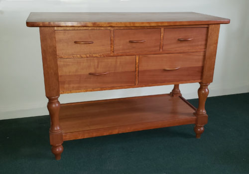 5-drawer huntboard in cherry
