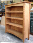 3' wide by 4' high cherry bookcase