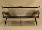 Windsor bench, settee, milk paint, Vermont, hand made, contemporary