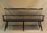 Windsor, bench, settee, Vermont, hand made, custom, milk paint
