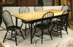 Colorado Table with a set of six Windsor bowback side chairs