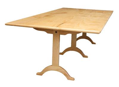 William Laberge Cabinetmaker Custom Trestle Table