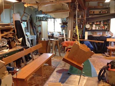 Tim Clark Shelburne Museum Bench In Process