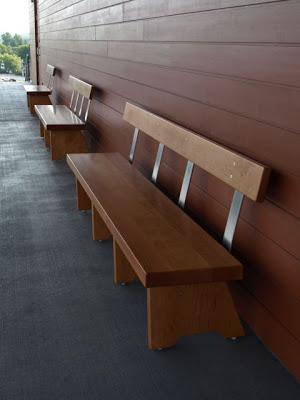 Final Installation Tim Clark Custom Bench at Shelburne Museum