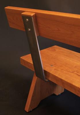 Collaborative Detail Shot Tim Clark Shelburne Museum Bench